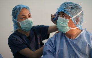 The Rhinoplasty Surgery Center Surgeon During Surgery